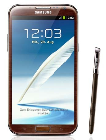 Galaxy Note II braun Handy