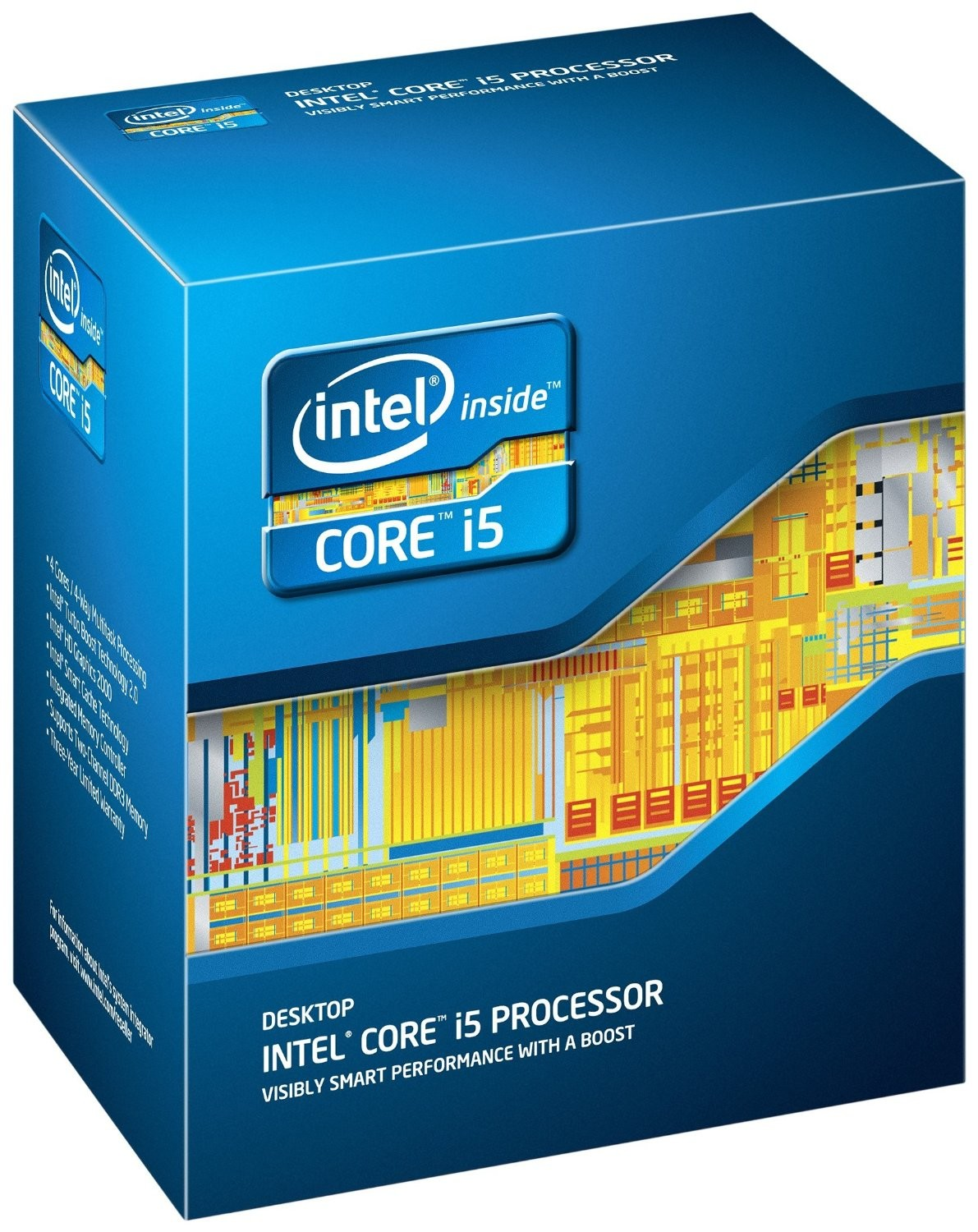 INTEL Quad Core i5-2500 3,3 GHz 6MB Box 1155, HD2000