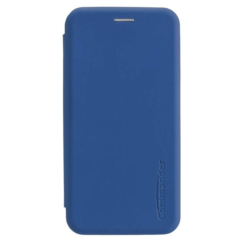 Peter Jäckel COMMANDER Book Case CURVE für Apple iPhone 11 Soft Touch Maritim Blue