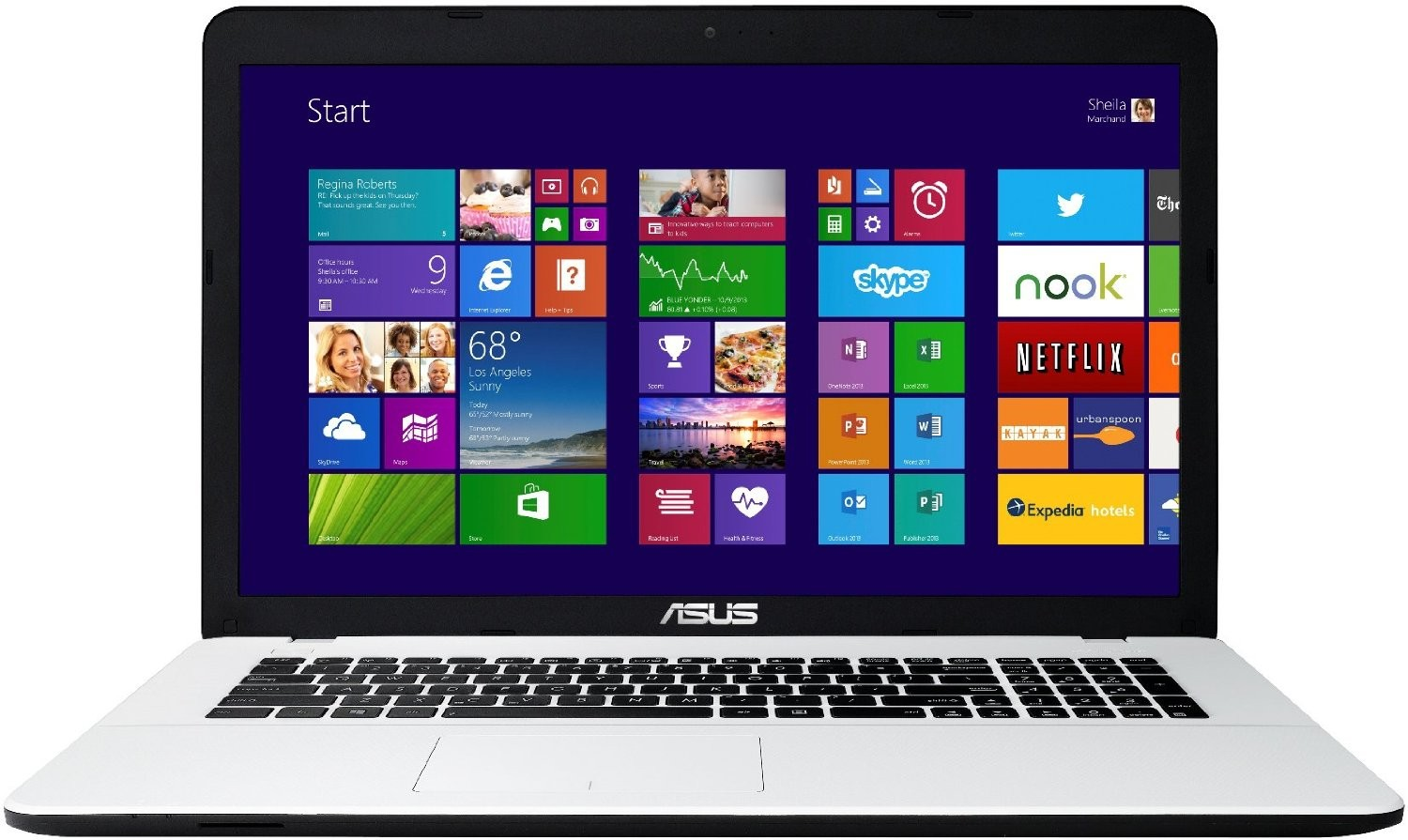 Asus F751MA-TY201H 17,3 Zoll Notebook weiß