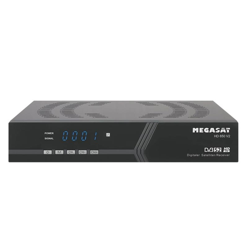 Megasat HD 650 V2 Receiver schwarz Set-Top-Box DVB-S DVB-S2 NEU