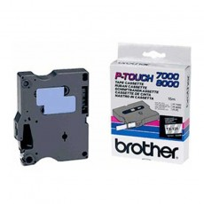 Brother TX-131 P-Touch schwarz auf clear 12mm