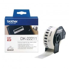 Brother DK-22211 P-Touch weiß Endlosetiketten Film 29mm x 15.24m