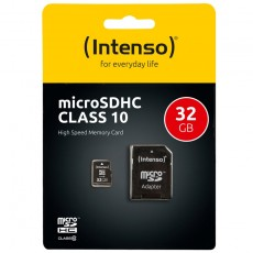 Intenso Micro SDHC Card 32 inkl.Adapter Class 10