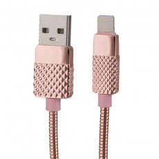 Peter Jäckel USB Data Cable BRILLIANT Lightning Pink mit Sync- und Ladefunktion