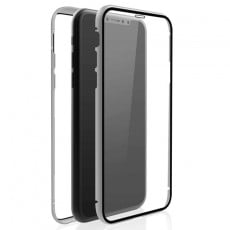 "Hama Black Rock Cover ""360° Glass"" für Apple iPhone 11, Silber"