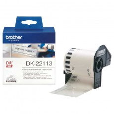 Brother DK22113 P-Touch Endlos-Etiketten (Film) transparent, 62mm x 15,24m