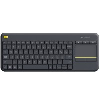 Logitech K400 Plus Touch Wireless Tastatur schwarz