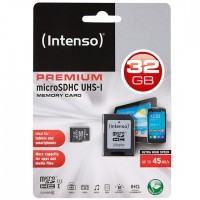 Intenso Micro SDHC 32GB Class 10 Speicherkarte inkl. SD-Adapter (UHS-I)
