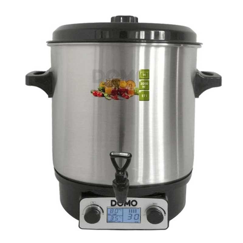 EINWECK-KOCHTOPF Einkochtopf 27L Punsch-Topf Glühwein-Kocher mit Zapfhahn NEU