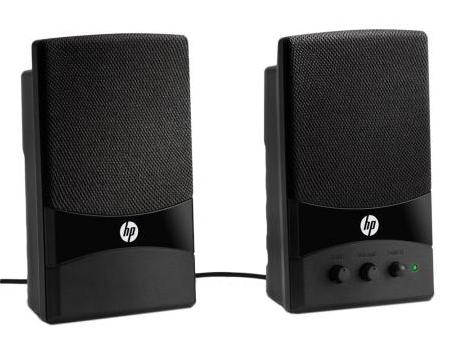 hp multimedia lautsprecher gl313aa mit usb anschluss pc boxen ebay. Black Bedroom Furniture Sets. Home Design Ideas