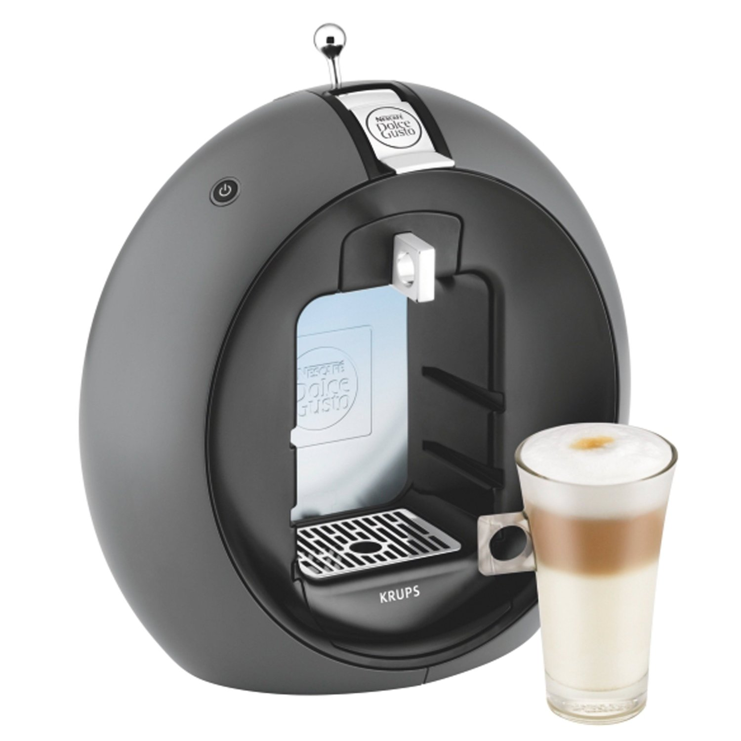 krups nescaf dolce gusto circolo charcoal grey kp5000 kaffeekapselmaschine ebay. Black Bedroom Furniture Sets. Home Design Ideas