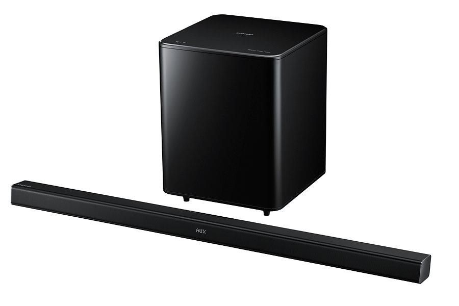 samsung hw h550 2 1 soundbar 320 watt bluetooth kabelloser subwoofer schwarz neu ebay. Black Bedroom Furniture Sets. Home Design Ideas