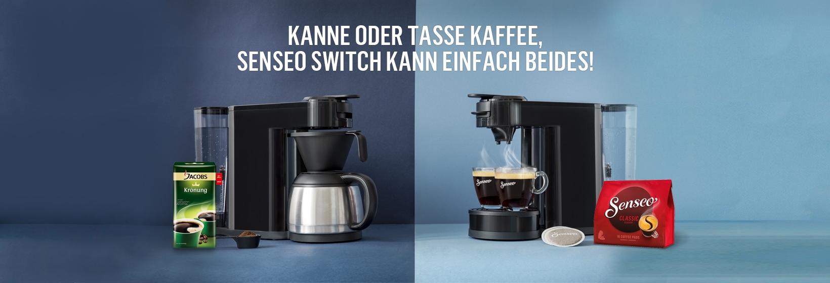 senseo hd7892 60 switch 2 in 1 kaffeemaschine ausstellungsger t. Black Bedroom Furniture Sets. Home Design Ideas