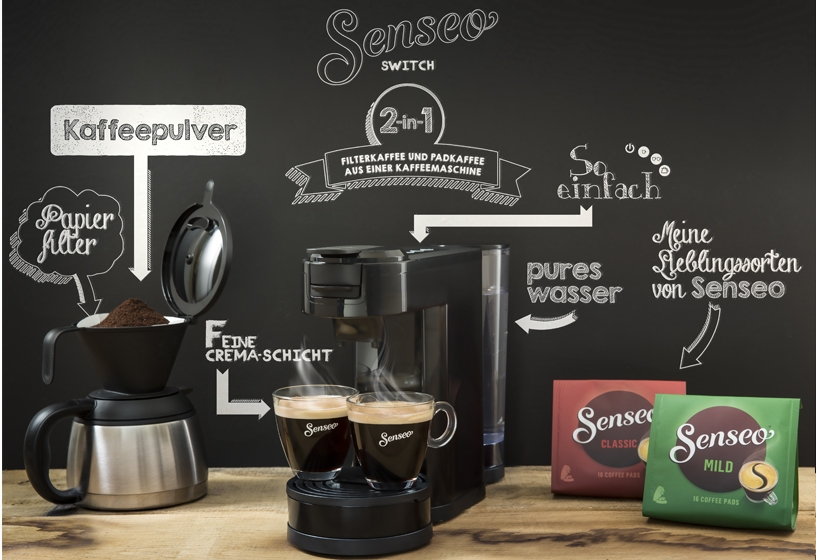 senseo hd7892 60 switch 2 in 1 kaffeemaschine. Black Bedroom Furniture Sets. Home Design Ideas