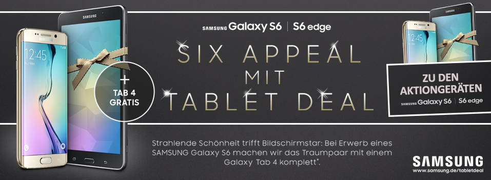 Samsung Aktion - Six Appeal mit Tablet Deal